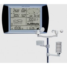 WEATHER STATION - ATOMIC LINKED CLOCK - WIRELESS SENSORS